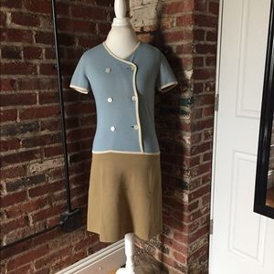Vintage Bianca Blue + Tan Reversible Knit